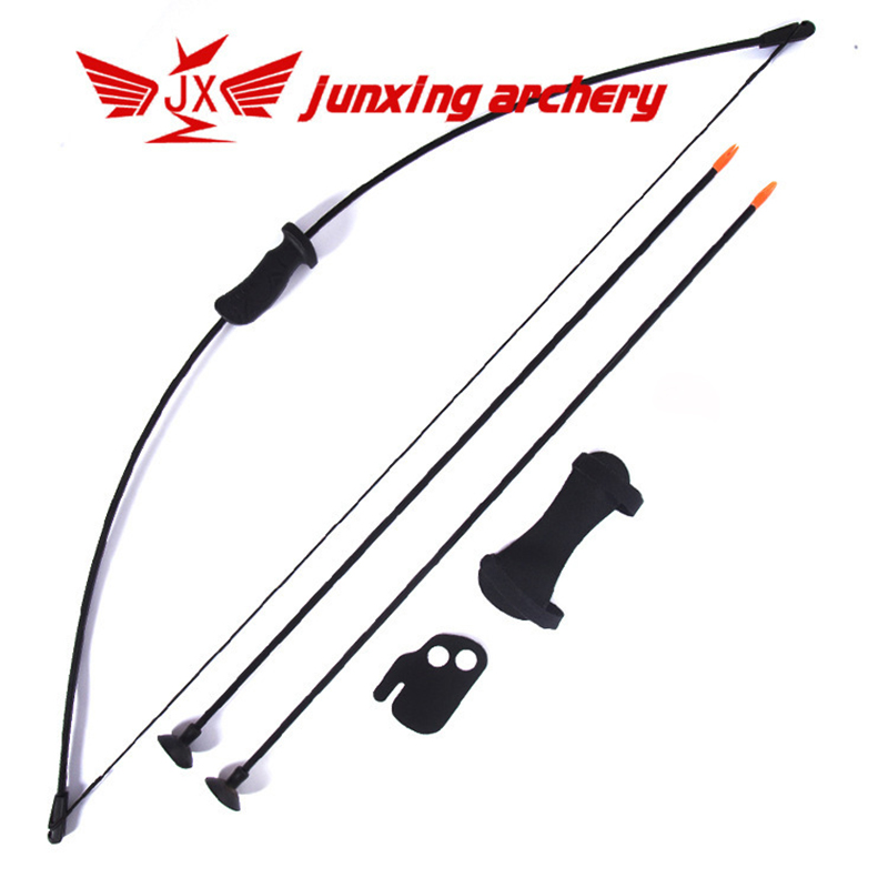 15-20lbs Children Recurve Bow Set Bow Arrow Kids Bow Longbow Children Junior Gift Toy Outdoor Game 2 Arrows Finger Arm Guard new game dendy junior