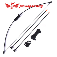 15-20lbs Children Recurve Bow Set Bow Arrow Kids Bow Longbow Children Junior Gift Toy Outdoor Game 2 Arrows Finger Arm Guard