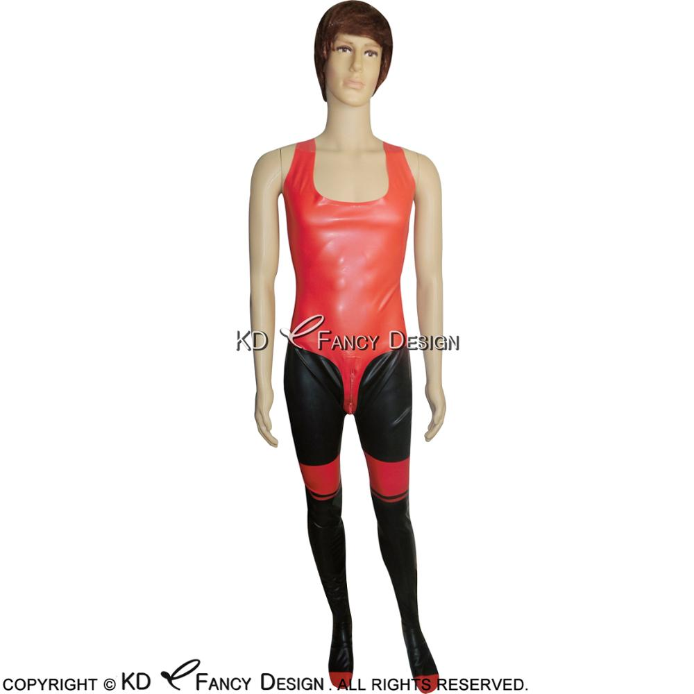 Red Rubber Suite: Aliexpress.com : Buy Black With Red Sleeveless Sexy Latex