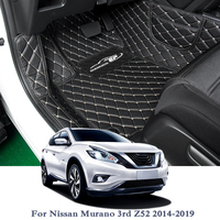 Car Styling Car Floor Mats For LHD Nissan Murano 3rd Z52 2014 2019 Auto Foot Pads Automobile Carpet Cover Internal Accesseries
