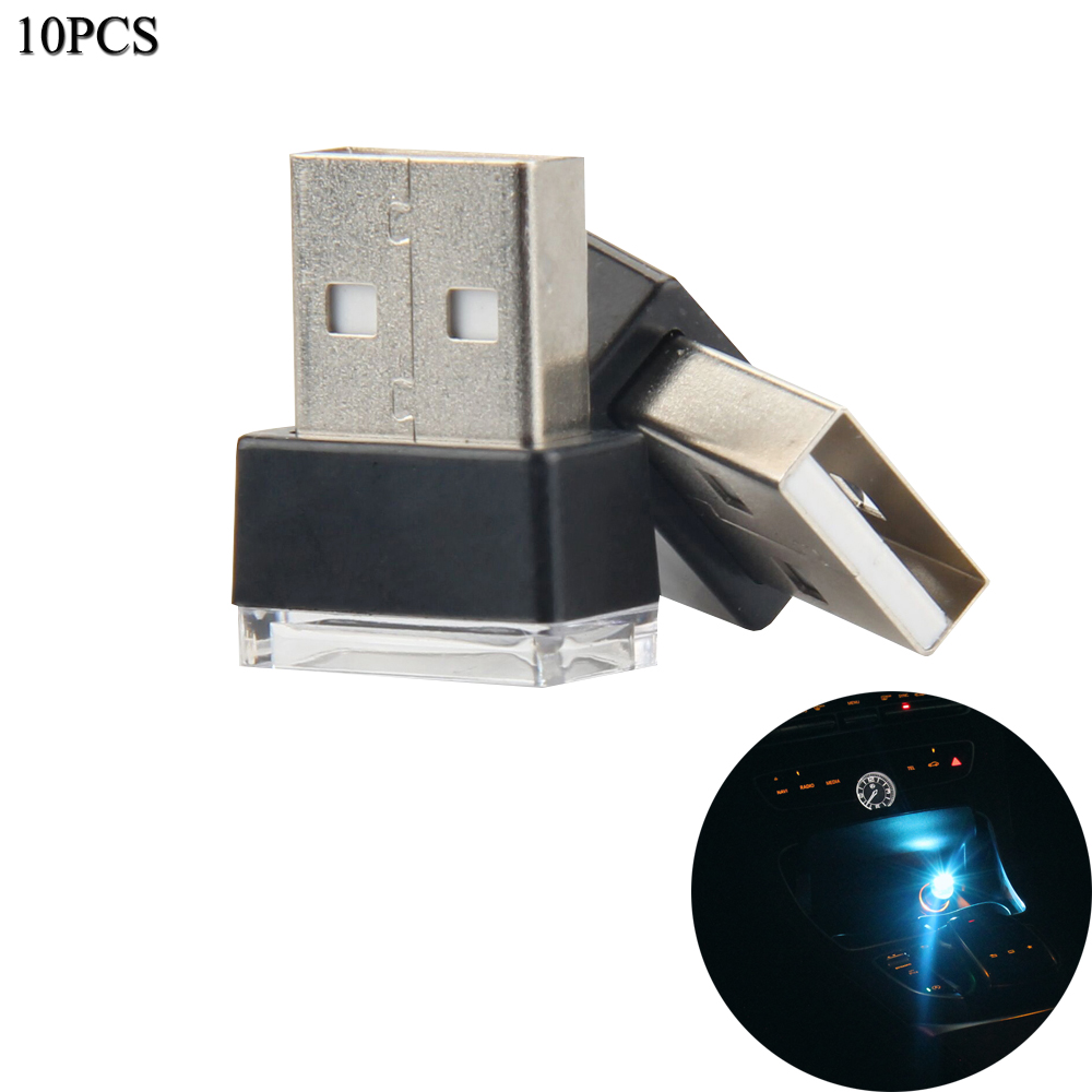 10pcs  Set Car Usb Led Atmosphere Light Wireless Car