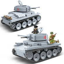 NEW Military LT-38 German Light Tank Soldier Building Blocks WW2 LT-38 Tank Weapon accessory Bricks Army Toys Gifts For Children banbao military educational building blocks toys for children kids gifts army tank weapon guns stickers