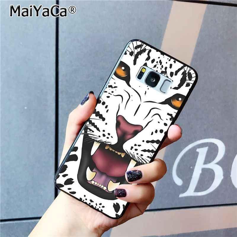 Maiyaca moda tigre leopardo impressão panther caso de telefone para samsung galaxy s8 s7 borda s6 s10 lite s10plus s10e s9plus m10