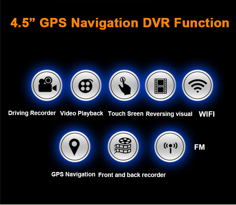 Android Car DVR Camcorder dual lens dash cam drive camera GPS Navigation video recorder Full hd 1080p auto registrator dvr wifi 3