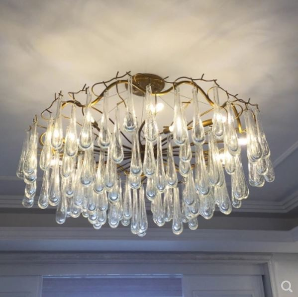 Amiable Postmodern Chandelier Living Room Bar French Crystal Art Tree Fir Branch Light Luxury Lamp Restaurant American Crystal Light