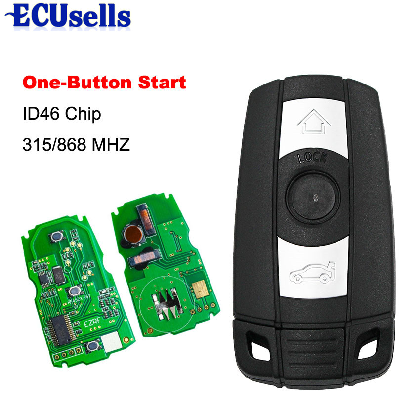3 Button Full Smart Remote Key 315/868MHZ ID46 For BMW 1 3