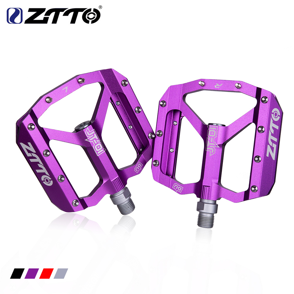 ZTTO MTB Road Bike Ultralight Sealed Pedals CNC Cycling Part Alloy DH XC Hollow Anti-slip Bearings Du System mountain 12mm Axle(China)