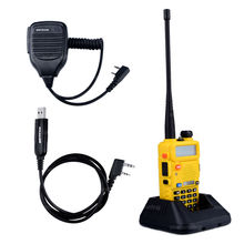 BaoFeng UV-5R Walkie Talkie Baofeng Two way Radio Accessories VHF UHF Dual Band 136-174/400-520 1X Speaker Mic+1X Cable