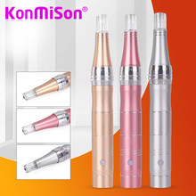 Konmison Sekrup Dr. pena Derma Pena Jarum Cartridge Jarum Tips (12pin Jarum) untuk Listrik Mikro Rolling Derma Stamp Terapi(China)