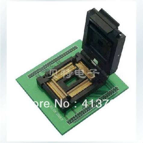 Import block TQFP100/LQFP100 block SA718 test burn, conversion IC, XELTEK dedicated ic xeltek programmers imported private cx3025 test writers convert adapter