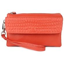 395e7d220a8a8 Hurtownie 2019 prawdziwej SKÓRZANY PORTFEL moda portmonetka dla pań kobiet  długo sprzęgło portfele z torby na