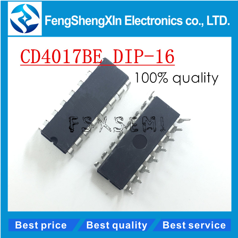 10pcs/lot CD4017BE CD4017 CMOS COUNTER/DIVIDERS IC DIP-1610pcs/lot CD4017BE CD4017 CMOS COUNTER/DIVIDERS IC DIP-16