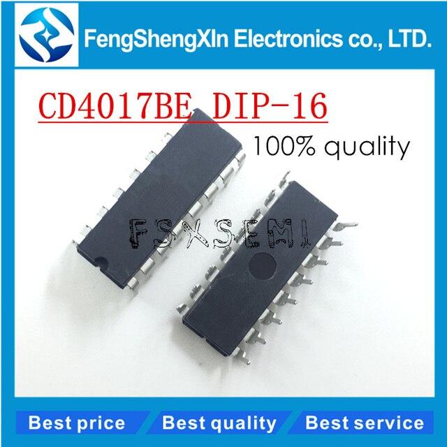 10pcs/lot CD4017BE CD4017 CMOS COUNTER/DIVIDERS IC DIP-16