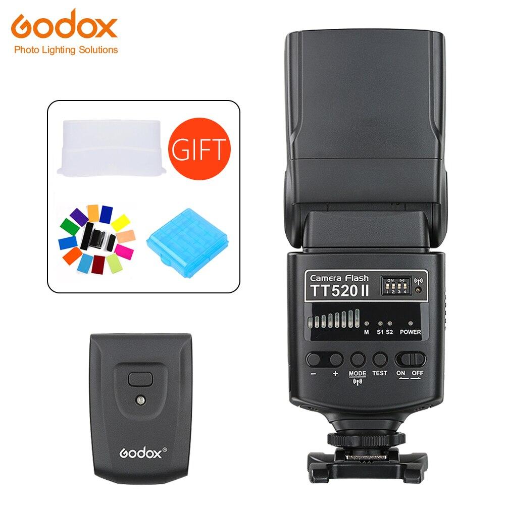 Godox TT520 II Flash TT520II встроенный 433 МГц беспроводной сигнал + цветной фильтр Стандартный передатчик RT для Canon Nikon DSLR камер