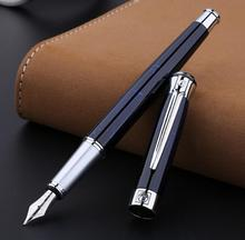 PICASSO Pimio best fountain pen 903 DARK BLUE expensive metal ink pen F NIB calligraphy pens Luxury Gift Box Ink Pens