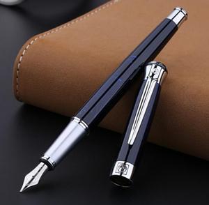 Image 1 - PICASSO Pimio beste vulpen 903 DONKERBLAUW dure metalen inkt pen F PENPUNT kalligrafie pennen Luxe Geschenkdoos Inkt pennen