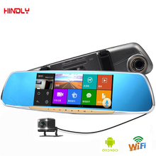 Hindly 7″ Touch Special Car DVR Camera Mirror GPS Navigation 16GB Android 4.4 Dual Lens FHD1080p Video Recorder Dash Cam WIFI FM