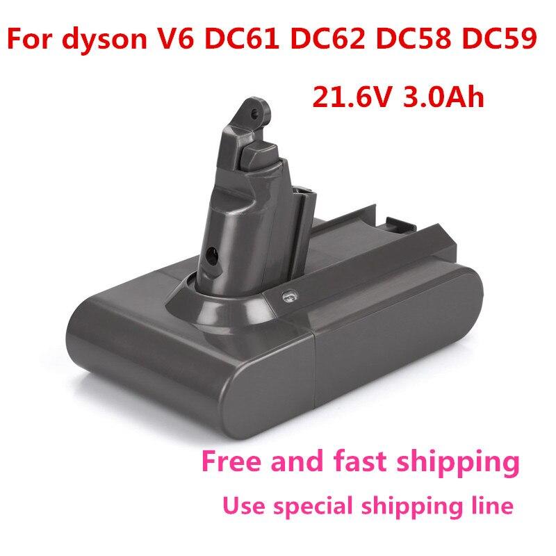 21.6 V 3000 mAh batterie de remplacement pour Dyson Li-ion aspirateur DC58 DC61 DC62 V6 965874-02 Animal DC72 batterie de poche21.6 V 3000 mAh batterie de remplacement pour Dyson Li-ion aspirateur DC58 DC61 DC62 V6 965874-02 Animal DC72 batterie de poche