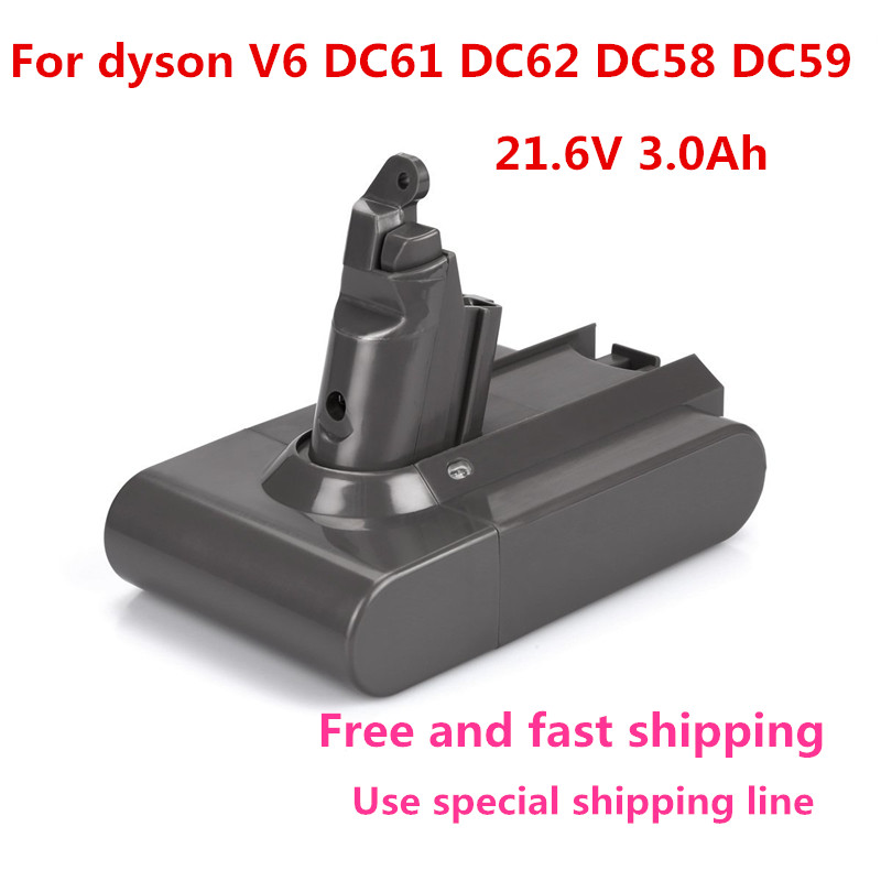 21 6V 3000mAh Replacement Battery for Dyson Li ion font b Vacuum b font Cleaner DC58