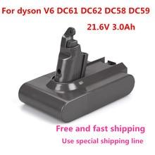 21,6 V 3000 мАч литий-ионная Расширенная Батарея для Dyson Li-Ion вакуум уборщик DC58 DC61 DC62 V6 965874-02 животных DC72 Карманный аккумулятор