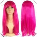 Роза розовый парик длинные прямые боа Hankokku розовый фиолетовые волосы косплей костюм синтетический парик роуз розовый парик
