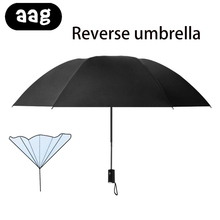 AAG Windproof Resistant Folding Automatic Umbrella Double Layer Inverted Travel Umbrellas Compact Business