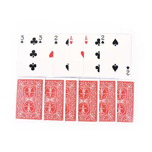 2 Sets Einfache Klassische Magie Spielkarten Familie Lustige Spiel Magie 3 Drei Karte Trick Karte