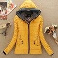 O envio gratuito de 2017 de Inverno nova versão Coreana explosão modelos de venda quente da forma das mulheres Selvagem fino de algodão casaco quente por atacado baratos