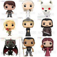 Official letsjoy 12cm pop horse action figure Game of thrones vinyl squishy Kawaii doll A Song of ice and fire JonSnow Daenerys(China)