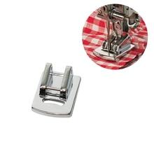 1 pieza de tela de prensado de pie para máquina de coser para el hogar de uso especial de pliegues de costura de pie cantante Janome DIY costura accesorios