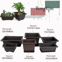 Flower Pot Imitation Plastic Balcony Square plastic pots Flo