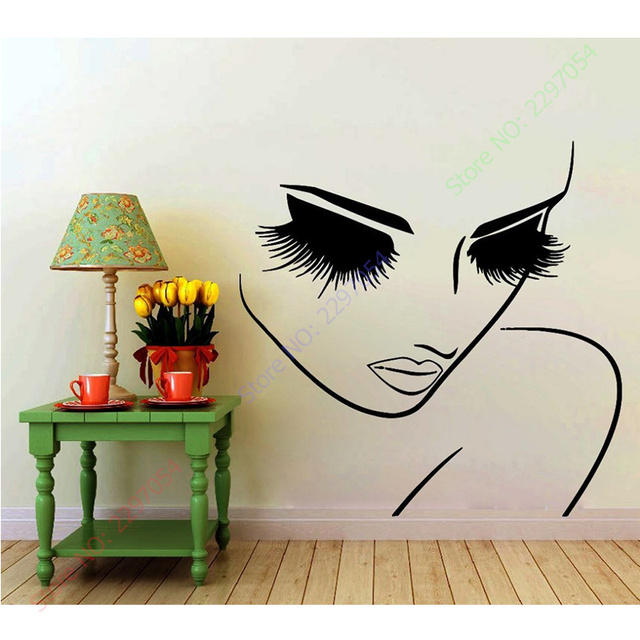 Aliexpresscom Buy Hair Beauty Salon Decal Vinyl Sticker Woman