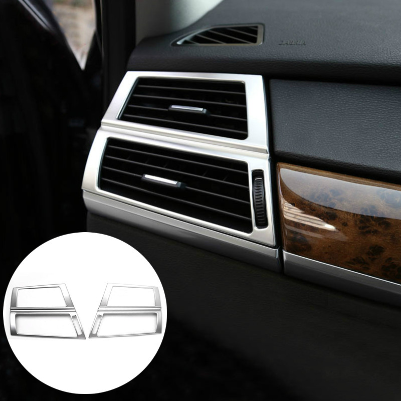 Interior Dashboard Side Air Vent Outlet Cover Trim For BMW X5 E70 2009 2013 2pcs