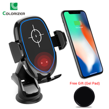 Qi 10W Phone Car Holder Wireless Charger For iPhone XS Max XR X Samsung S10 S9 Smart Automatic Infrared Induction Sensor Bracket
