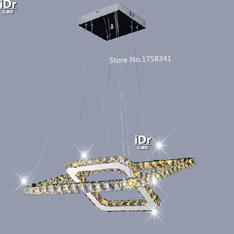 US $182.4 60% di SCONTO|2 anello LED Camera Da Letto Sala lampada  lampadario Moderno lampadario Di Cristallo 100% di diverse dimensioni  Camera Da ...