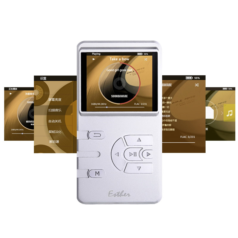 цены Soundaware M1 Esther Analog FPGA Decoding 1Bit DSD/192KHZ DSD/PCM Portable Music Player AAC M4A,CUE,WAV,FLAC,APE,ISO,DSF,DFF