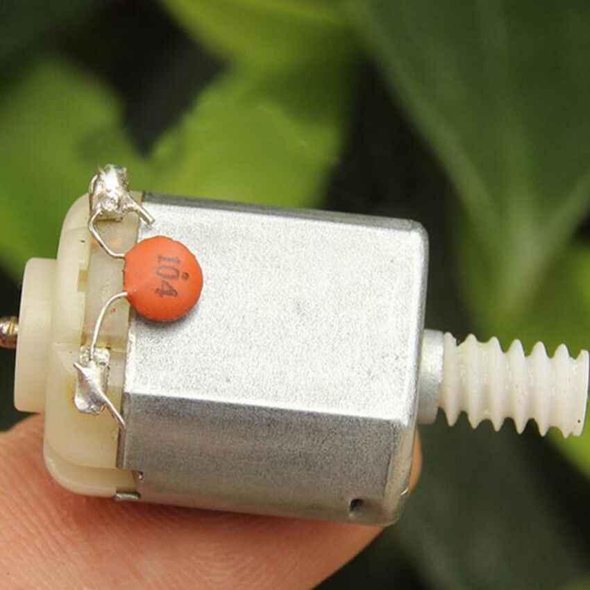 1 قطعة محرك تيار مباشر صغير 3 إلى 6 فولت 130 مع ترس الدود لألعاب نماذج ذاتية الصنع