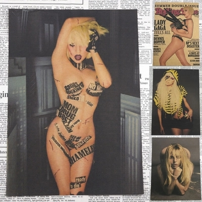 wall paper Lady Gaga kraft paper poster bar decorative painting vintage poster home decor wall stickers 30*21cm