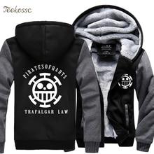 Skull Hoodie Jacket Coat Luffy-Sweatshirt Monkey-D Anime Fashion Mens Thick One-Piece