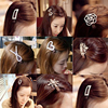 Full Bling Crystal Heart Crown Star Rose Flower etc Brown & Black Hair Clips Girls Women Headwear Barrettes
