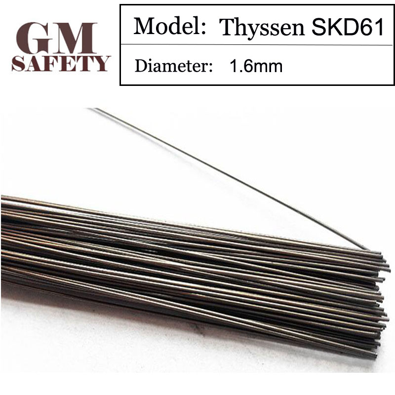 1KG/Pack 1.6mm GM Thyssen SKD61 TIG Welding wires&Repairing Mould argon Soldering Wire for argon arc Welding F055 1kg pack thyssen 738 tig welding wires