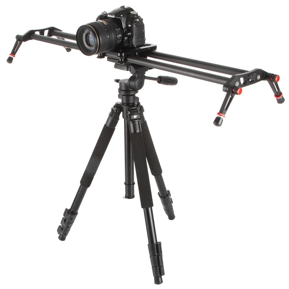 Viltrox VC-80 80cm 6 Bantalan Serat karbon DSLR Kamera DV Slider - Kamera dan foto - Foto 5