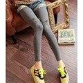 Korean style Kawaii high stretch ankle-length leggings women elastic slim bodycon pants sweet spring autumn feminino leggings