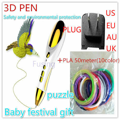 3D Printing pen with Micro USB charging, Birthday present 3D Pen for Educational Kid Toys