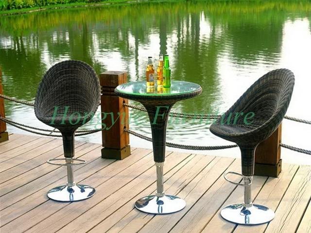 Vimini all aperto bar regolabile sgabello con tavolo mobili set