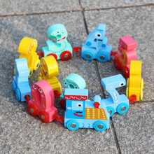 2018 Wooden Alphabet train Educational Developmental Baby Kids Training Toy Number Colorful Wooden Assemble Toy Set Palying Toys