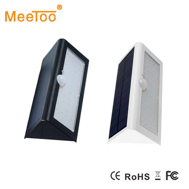 Высокая Мощность светодиодный Солнечный свет лампы Открытый Водонепроницаемый настенный светильник охранное точечное освещение IP65 светло-Управление настенные лампы, работающие от солнечной энергии