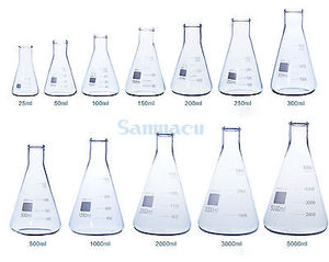 Image 1 - 2000ML Conical Erlenmeyer Flask G3.3 Borosilicate Glass Lab Supplies