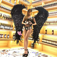 wedding shooting props Cosplay photography black costume Angel demon wing cartoon feather angel wings for Fashion show Displays