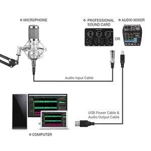 Image 4 - FELYBY bm 800 Microphone à condensateur professionnel pour ordinateur Audio Studio Vocal enregistrement karaoké interview micro alimentation fantôme